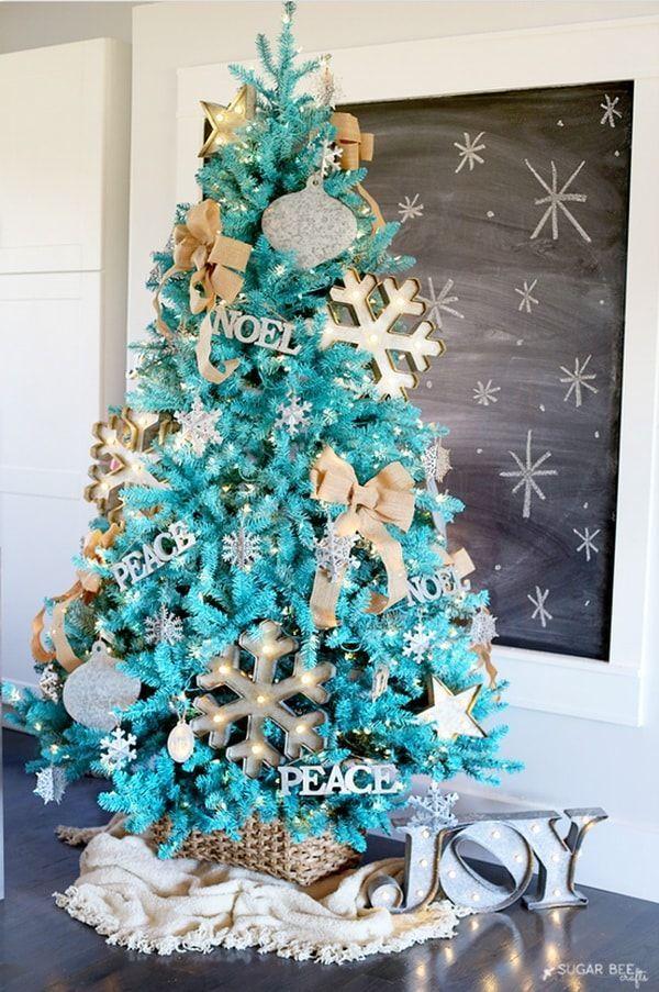 1000 ideas sobre navidad turquesa en pinterest navidad for Arbol navidad turquesa