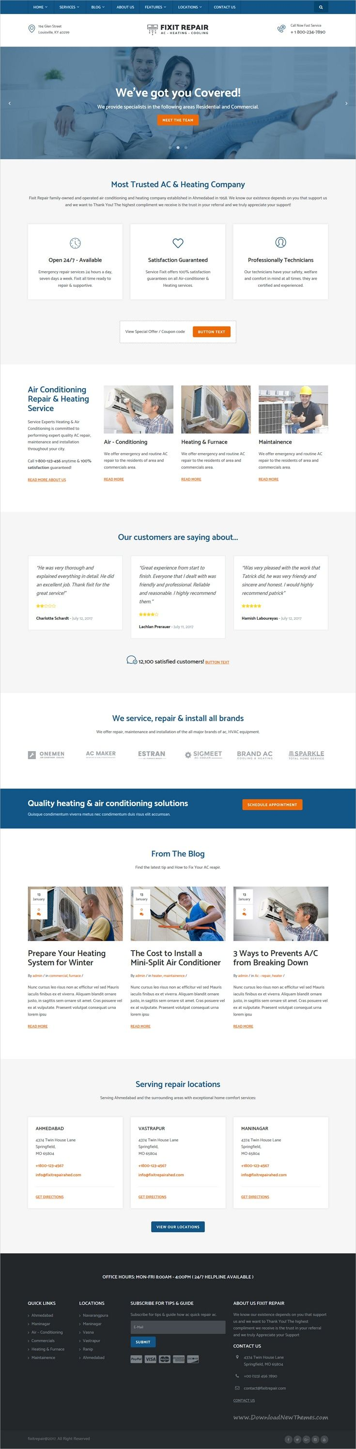 Beautifully design 2in1 responsive #WordPress theme for #air conditioning and #HVAC repair service website download now➩ https://themeforest.net/item/air-conditioner-hvac-repair-wordpress-theme/19329221?ref=Datasata