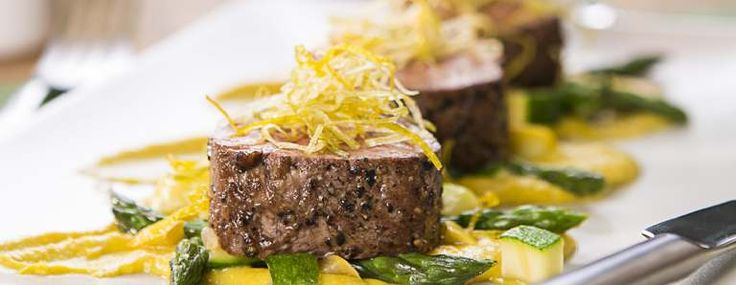 Here is an interesting recipe Lamb Medallions with Corn Pudding