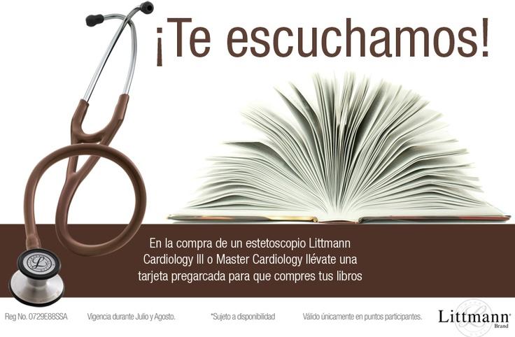 Promo en la compra de tu estetoscopio #Littmann Cardiology III o Master Cardiology