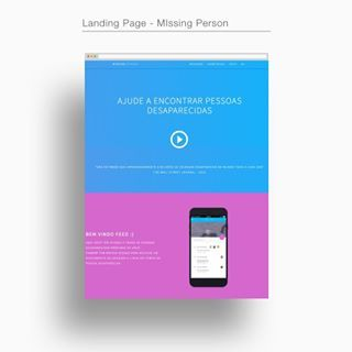 Landing Page | Projeto Missing Person. Ajude a encontrar pessoas desaparecidas. Help to find missing persons. #missingpersons #missingperson #app #sketchapp #unsplash #help #causa #projetos #semfinslucrativos #adfree #vocedeapp #design #ux #ui #uxui #desenvolvedor #invision #website #site #landingpage