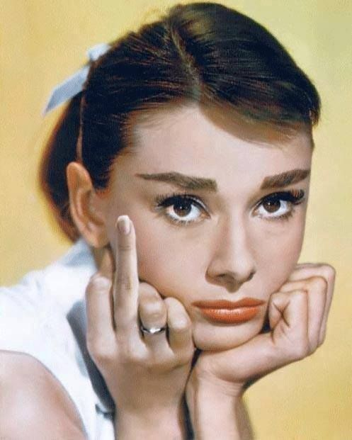 Audry Hepburn  #photography One of the many reasons she is my hero!!! Haha