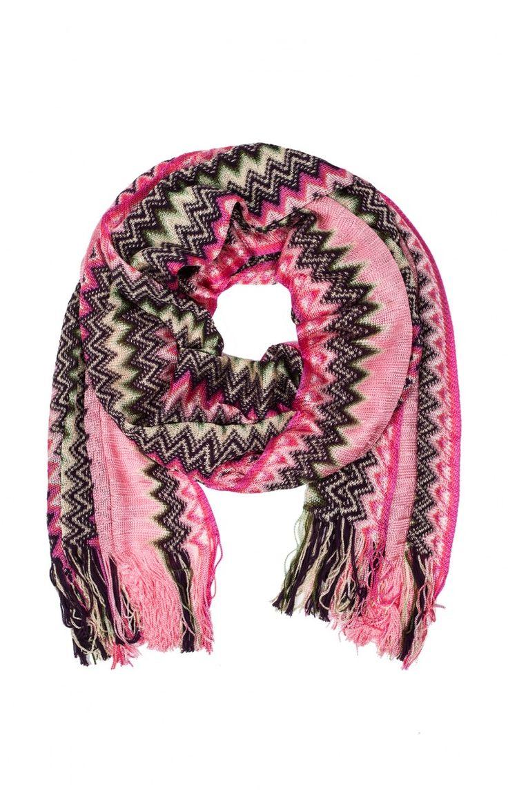 Sjal SA56VMD4857 ROSA - pink summer ss15 - Raglady