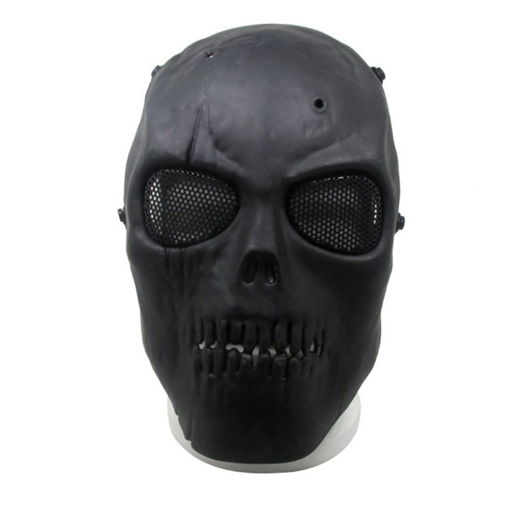 Black Gray Ghost Skull Skeleton Full Face Mask New  Promotion Tactical Paintball Airsoft Safety Masks