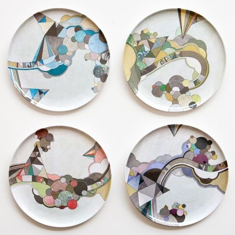 dishes.Melamine Plates, Marco Cibola, Plates 4Pk, Pretty Plates, Art, Poketo, Middleton Plates, Plates Sets, Design