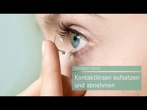Kontaktlinsen aufsetzen und abnehmen - Tipps von Lensbest - YouTube