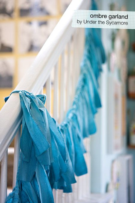 You can make this garland out of sheets or table cloths and dye it any color you want!