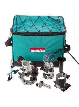 Sin IVA: 195,75 € Con IVA: 236,86 € Set De Fresadora Multi-Función Makita RT0700CX2  Set de fresadora Multi-función Makita RT0700CX2