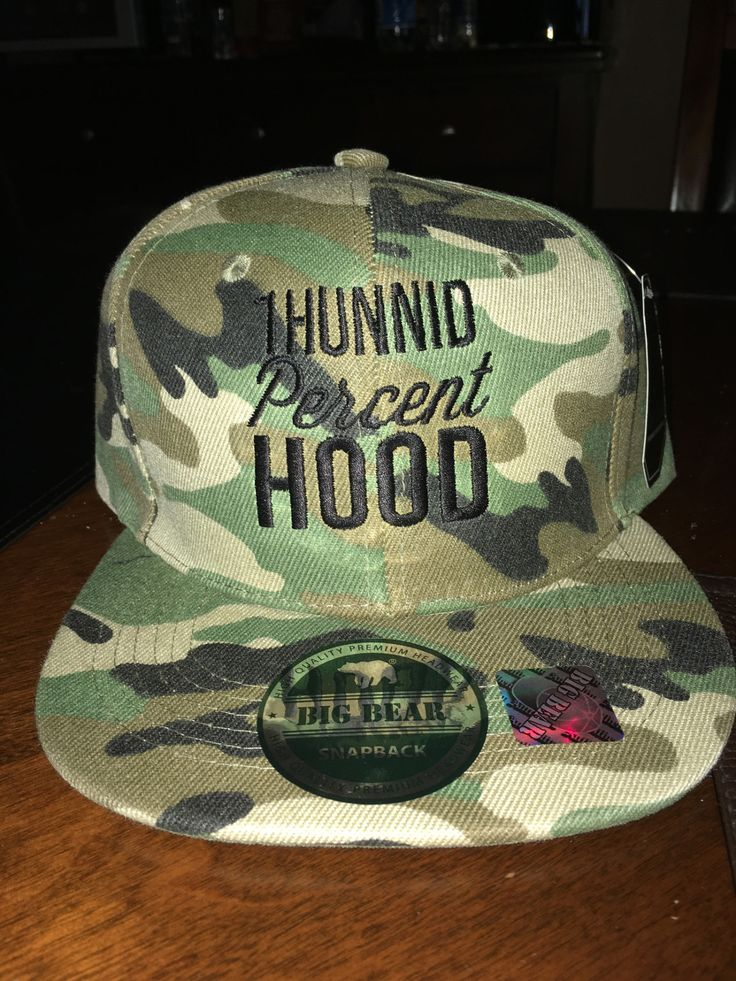 looking for something new? how about Army Camo 1Hunnid... get it here http://100percenthood.biz/products/black-on-black-1hunnid-percent-hood-snapback-baseball-cap?utm_campaign=social_autopilot&utm_source=pin&utm_medium=pin