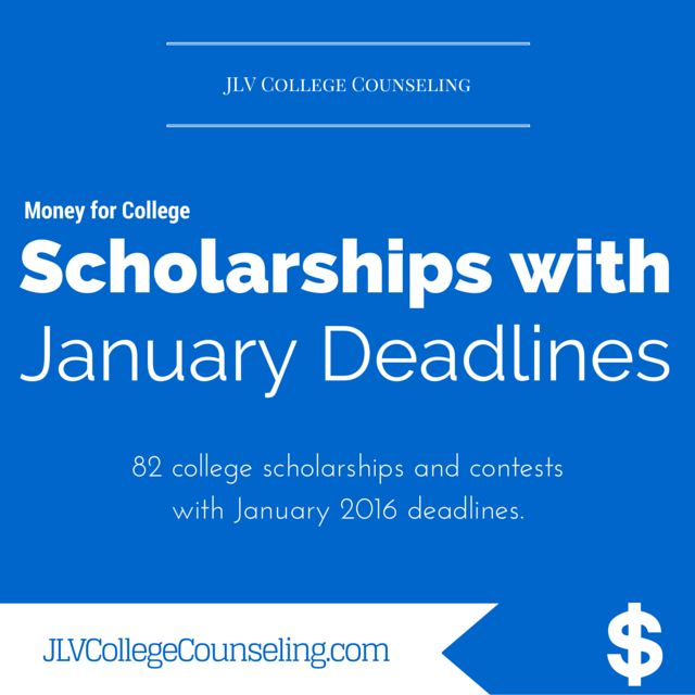 82 Scholarships with January 2016 deadlines
