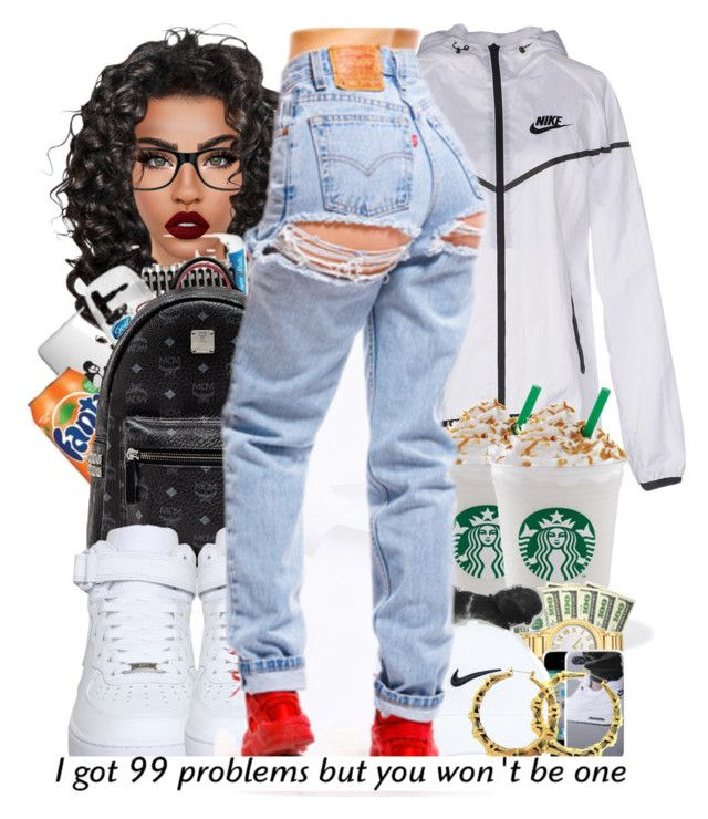 """"" by ballislife ❤ liked on Polyvore featuring Ray-Ban, MCM, NIKE, Lime Crime and Moschino"