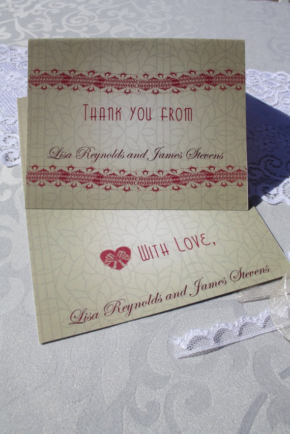free online printable wedding thank you cards%0A  Vintage  Rustic  Lace and Parchment Styled  Country  Wedding Thank you