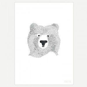 Bear Wall Art Print for Kids and Nursery Wall Art