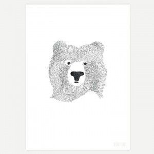 Bear Wall Art Print for Kids and Nursery Wall Art