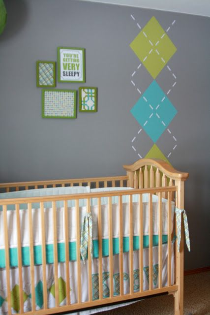 grey and argyle nursery can do pink brown and white for girl home ideas pinterest pink. Black Bedroom Furniture Sets. Home Design Ideas