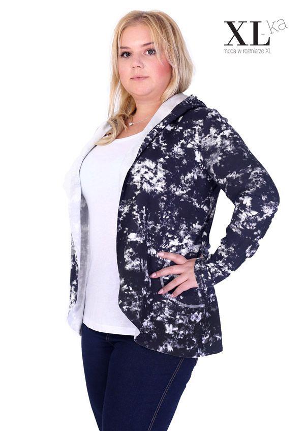 New in XL-ka store #plussize #fashion #moda #casual #modaxl | Narzutka z kapturem w sklepie XL-ka | Sweter-narzutka rozmiary plus size