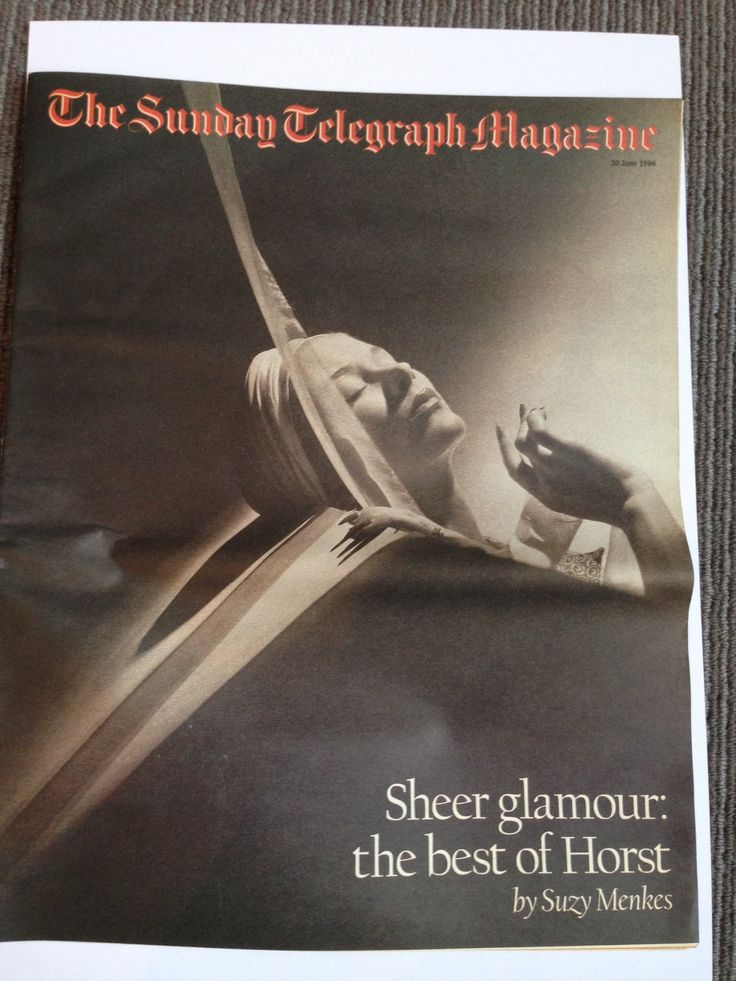 I was chief sub editor of The Sunday Telegraph Magazine…great publication!