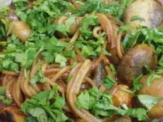 Ciuperci cu spaghete