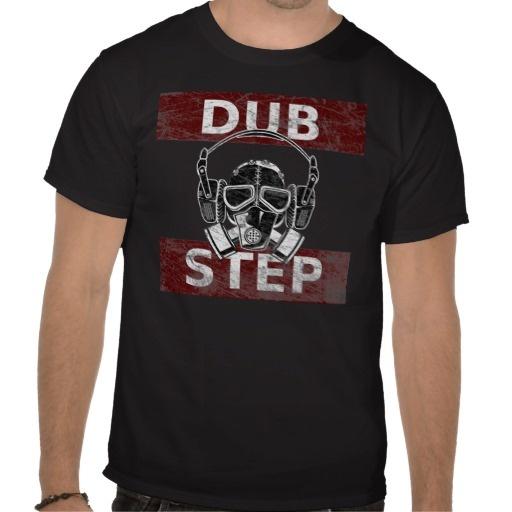 Dubstep gas mask  headphones shirt