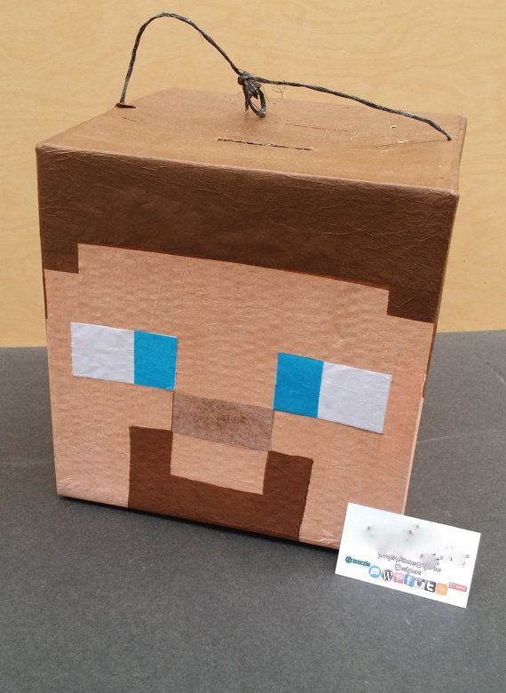 Super Cool Mine Craft Steve Head Pinata                                                                                                                                                      More
