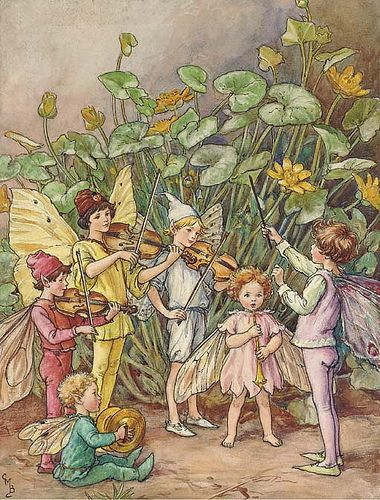 """A fairy orchestra"" by Cicely Mary Barker, from The Water Babies"