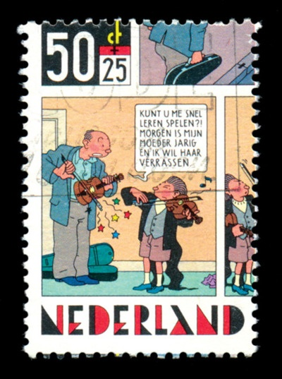 Ridiculously awesome Dutch postage stamp, illustrated by Joost Swarte. (Who is awesome).
