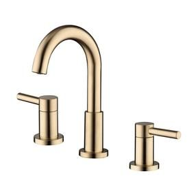 Jacuzzi Duncan Brushed Bronze 2-Handle Widespread Watersense Bathroom Sink Faucet With Drain (Valve Included) 67693W-608