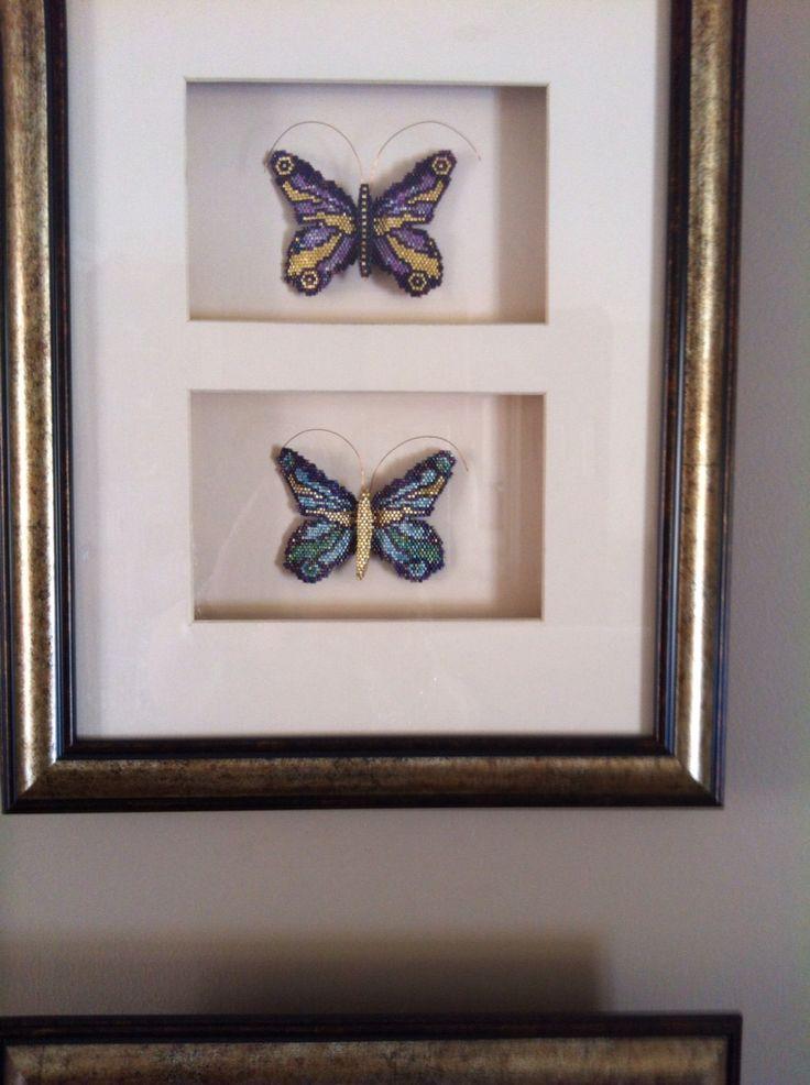 Delica beaded butterflies