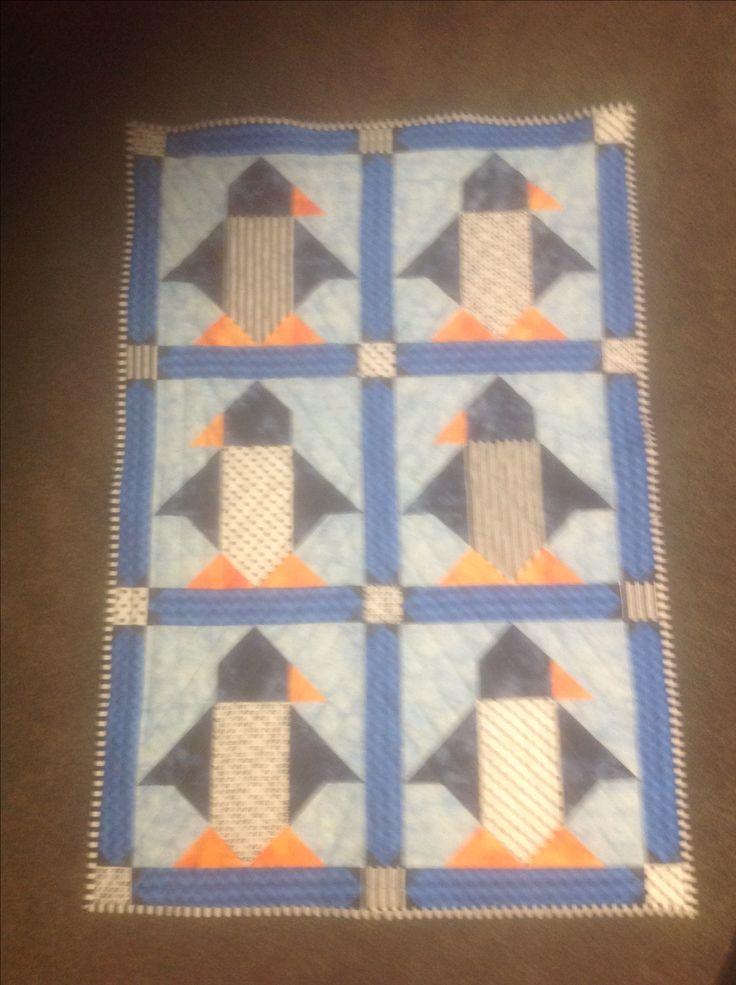 Penguin quilt for Monte