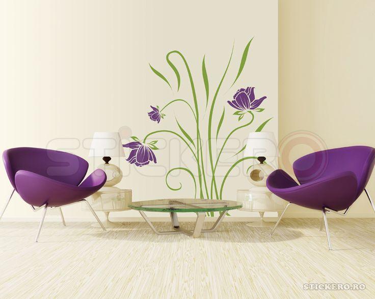 Buchet floral - sticker de perete