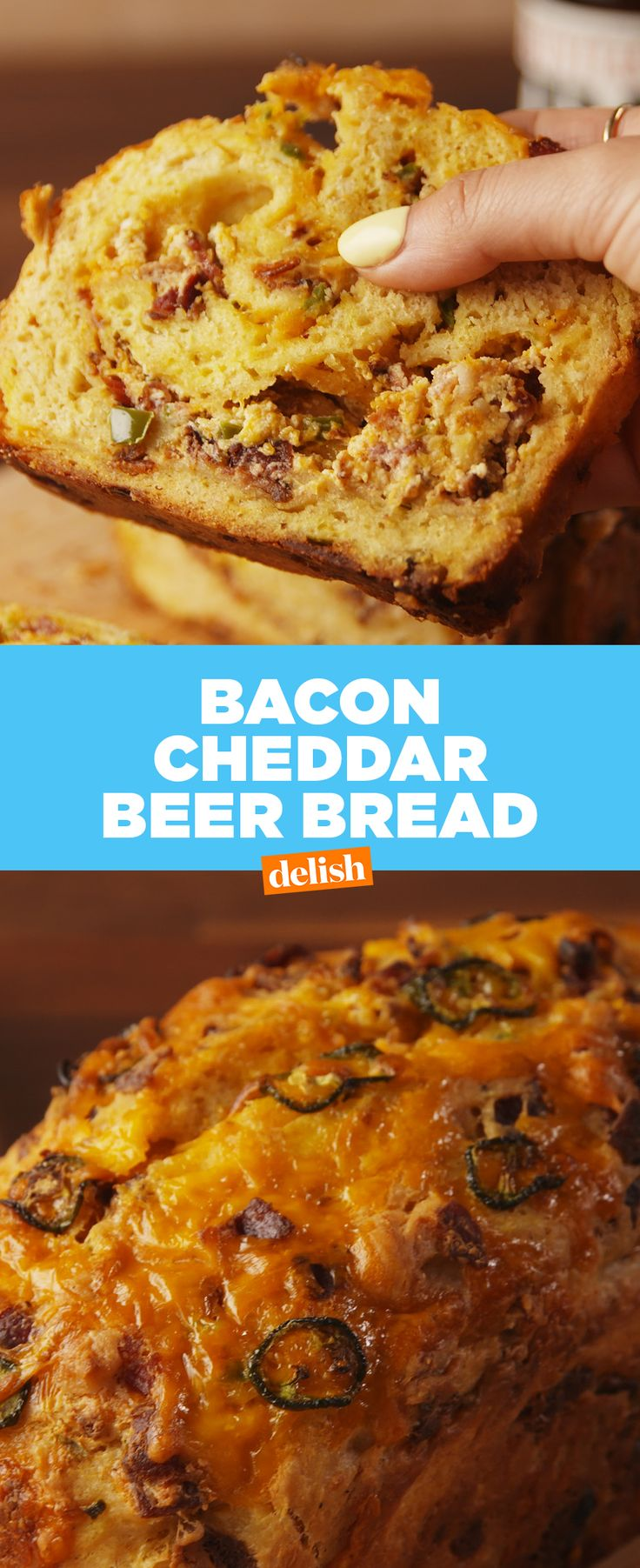 This Bacon Cheddar Beer Bread will be gone before it even cools off. Get the recipe from Delish.com.