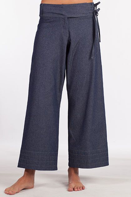 Comfort meets relaxed style in our Raj Denim Blue Pant.  Dress them up with a white cotton shirt and sandals.