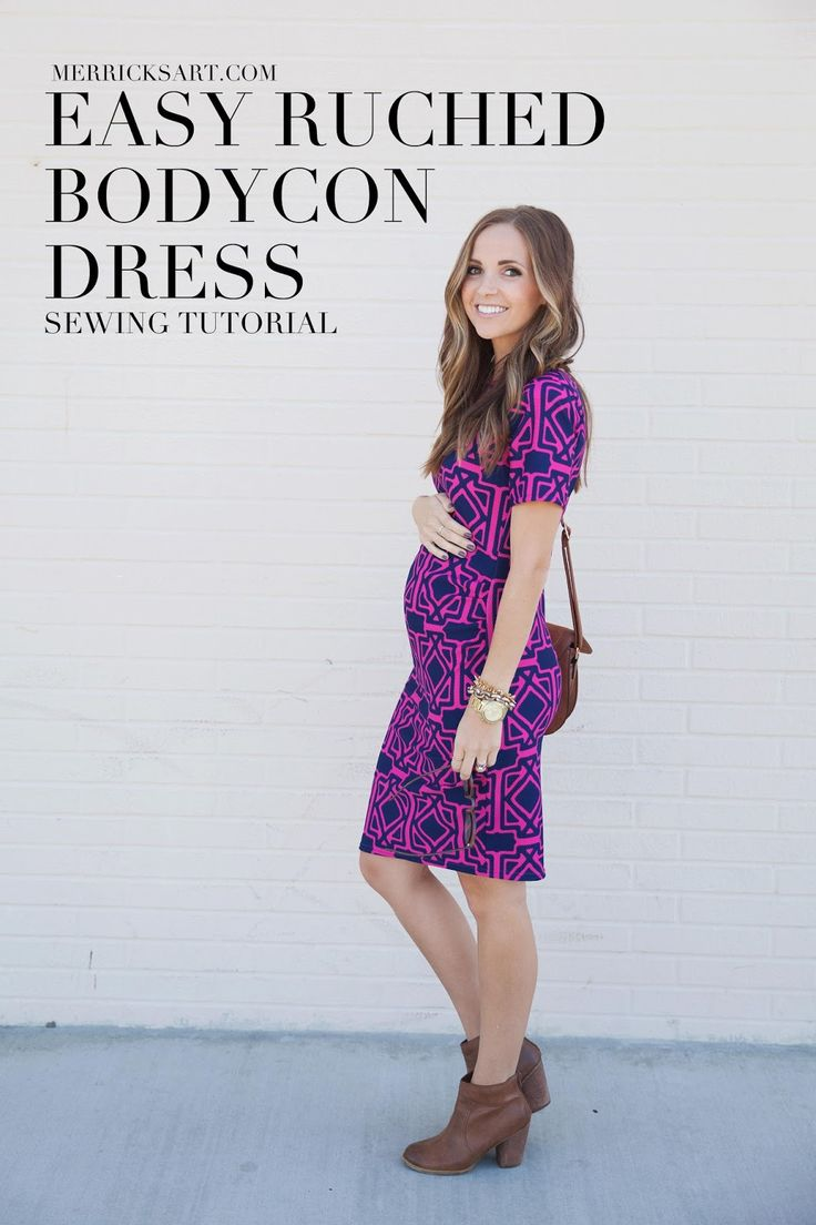 Best 25 maternity sewing ideas on pinterest sewing maternity diy friday easy ruched bodycon dress maternity or non ombrellifo Image collections