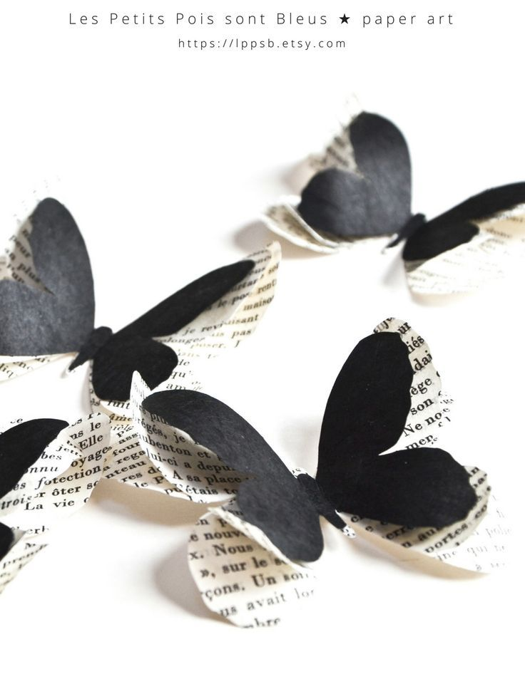 Are you inspired by gothic home decor? Add these black paper butterflies to your decoration! These black butterflies are also perfect to create a black wedding decor or for a soft goth wedding theme | by @LPPSB