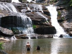 close to Atlanta, hiking trail with waterfalls & swimmin' holes