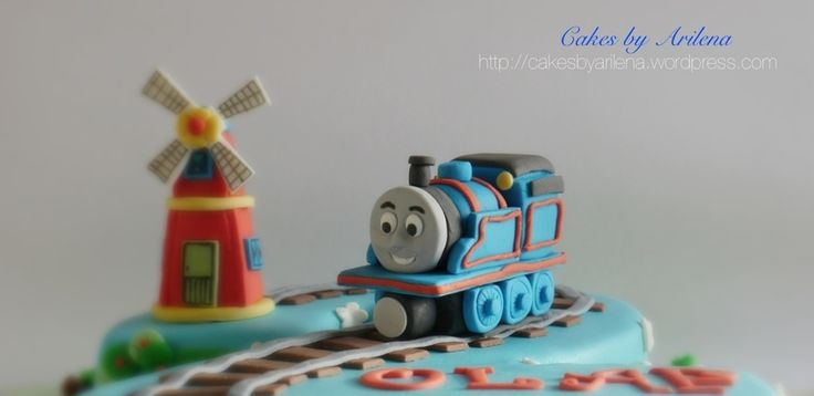 Thomas The Train And Windmill Cake