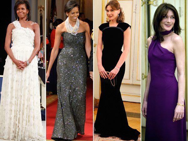 O estilo das primeiras-damas Michelle Obama e Carla Bruni Sarkozy