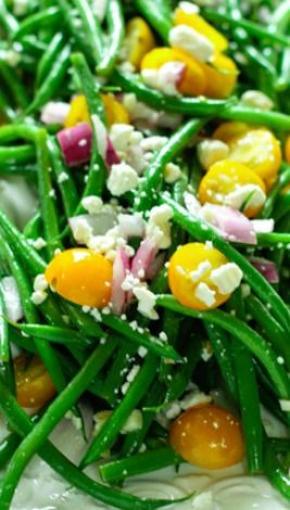 Bean Salad with Tomatoes and Feta