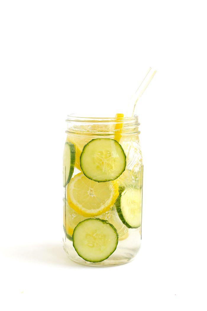 Lemon-Cucumber Infused Water -Get in your daily water quota with this Fruit-Infused Water - 6 ways! From berries, to citrus, to cucumber and herbs, we've got you covered for refreshing drink recipes all summer long!