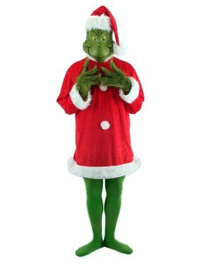 Santa Grinch Costume with Mask