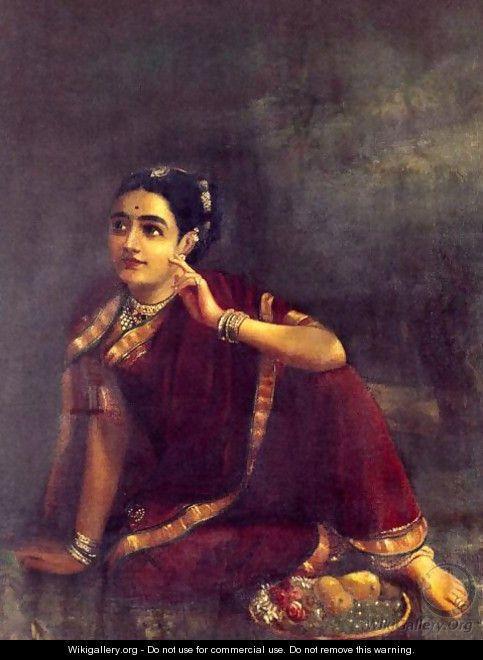 A Raja Ravi Varma Oil on Canvas:)