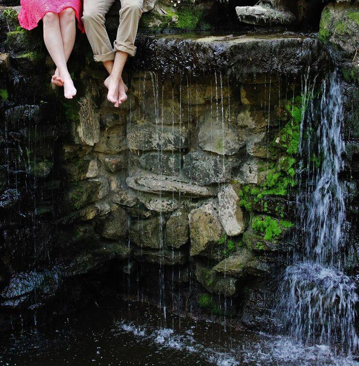 River Photo Shoot Ideas: Waterfall Engagement Photo Shoot