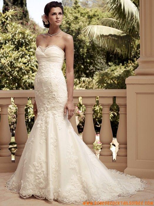 Robe de mariée bustier 2013 élégante appliques tulle