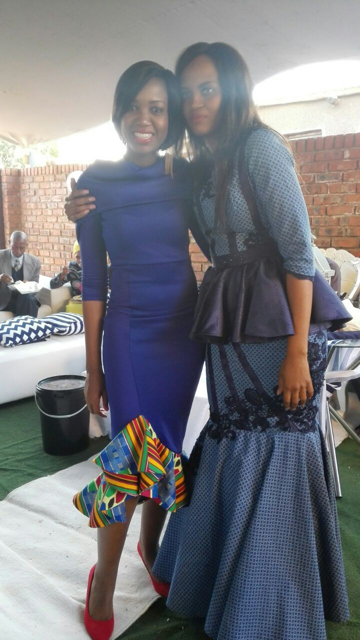 Me and my beautiful aunt on her traditional wedding day dress designed by Cleopatra Sethusha 0732985068 she is a fabulous designer.
