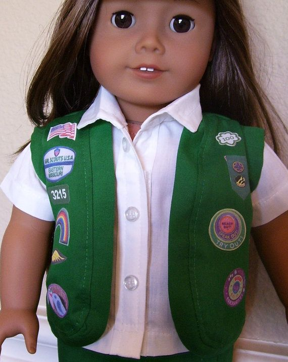 18 Inch Doll Clothes Junior Girl Scout Vest or by dressupdollie, $8.00