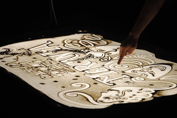 Mercantia festival sand art my work le monete di pinocchio
