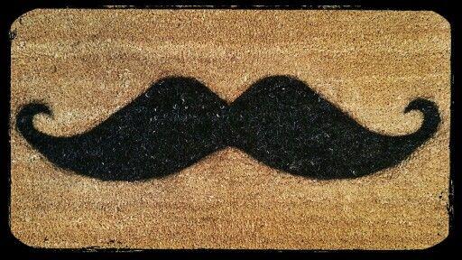 #DIY #mustache doormat