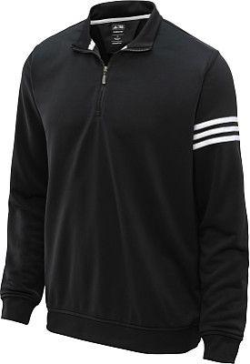 adidas Men's Climalite 3-Stripes 1/2-Zip Golf Pullover