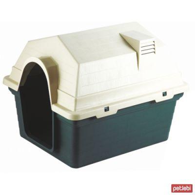 Dr.Sacchi Plastik Yeşil Köpek Kulübesi Bacalı 69X56X52cm