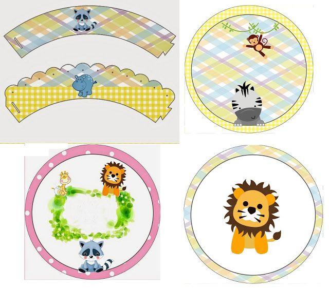 La Selva Bebés: Wrappers y Toppers para Cupcakes para Imprimir Gratis.